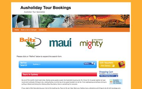 Screenshot of Home Page ausholiday.com.au - Ausholiday Tour Bookings | Australian Tour Specialists - captured Feb. 6, 2016