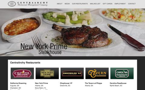 Screenshot of Home Page centraarchy.com - CentraArchy | Restaurant Management Company - captured Oct. 2, 2014