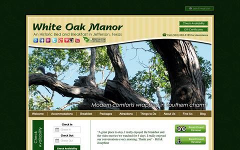 Screenshot of Contact Page Maps & Directions Page bedandbreakfastjeffersontx.com - Directions | White Oak Manor Bed and Breakfast - captured Nov. 16, 2018