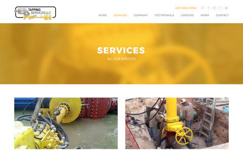 Screenshot of Services Page eatapping.com - Services | EA Tapping Services - captured July 7, 2017