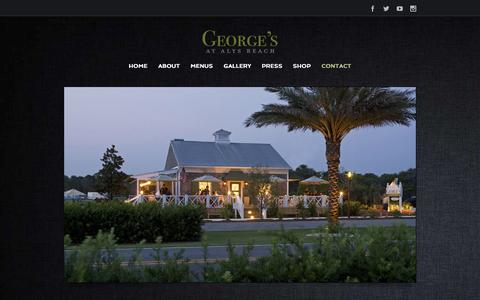 Screenshot of Contact Page georgesatalysbeach.net - George's at Alys Beach   –  Contact - captured Sept. 29, 2014