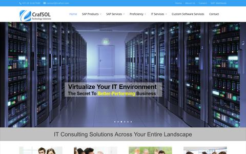 Screenshot of Home Page crafsol.com - CrafSOL | Technology Solutions - captured Oct. 3, 2014