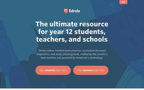 Edrolo – The ultimate resource for year 12 students, teachers, and schools