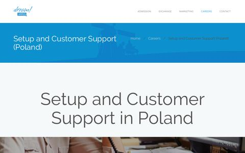 Screenshot of Support Page dreamapply.com - Setup and Customer Support (Poland) – DreamApply – Best Student Admissions Management System for Universities in Europe - captured Nov. 24, 2016