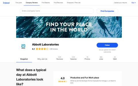 Abbott Laboratories Careers and Employment | Indeed.com