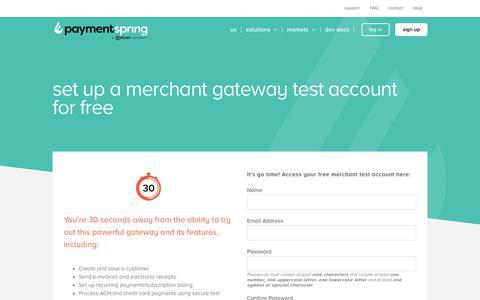 Screenshot of Signup Page paymentspring.com - Sign Up - PaymentSpring - captured Sept. 8, 2019