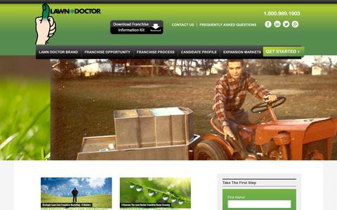 Screenshot of Blog lawndoctorfranchise.com - Lawn Doctor Franchise   Blog - captured Nov. 9, 2018