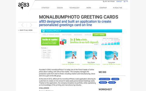 Screenshot of Maps & Directions Page af83.com - af83 - Work - monAlbumPhoto Greeting Cards - captured July 13, 2018
