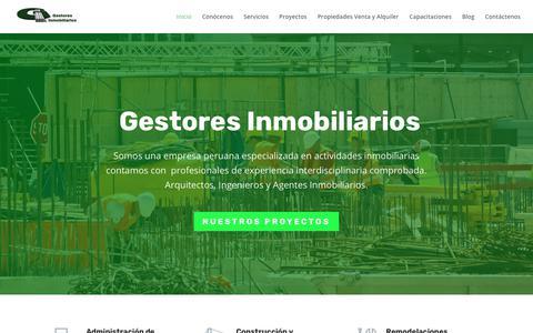 Screenshot of Home Page gestores-inmobiliarios.com - Gestores Inmobiliarios | My WordPress Blog - captured Nov. 4, 2018