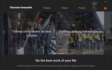 Screenshot of Jobs Page thorntontomasetti.com - Careers - Thornton Tomasetti - captured Sept. 21, 2018