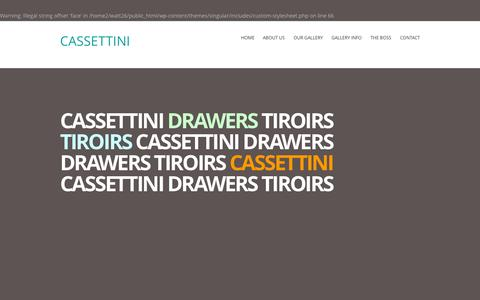 Screenshot of Home Page cassettini.com - CASSETTINI - captured Sept. 17, 2015