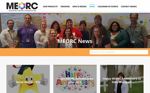 Screenshot of Press Page meorc.com - MEORC News | Mid-East Ohio Regional Council - captured July 5, 2017