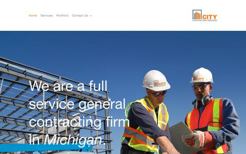 Screenshot of Home Page citycontractingservices.com - City Contracting Services - captured July 18, 2018