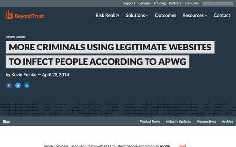 Screenshot of Team Page beyondtrust.com - More criminals using legitimate websites to infect people according to APWG | BeyondTrust - captured Jan. 3, 2020