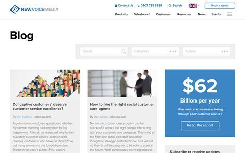 Blog - NewVoiceMedia