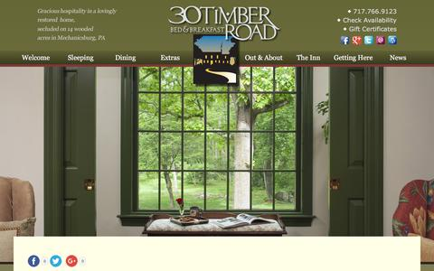 Screenshot of Contact Page Maps & Directions Page 30timberroad.com - Bed and Breakfast Lodging near Gettysburg & Hershey PA - captured Nov. 15, 2017