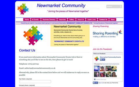 Screenshot of Contact Page newmarketcommunity.co.uk - Contact Us   Newmarket Community Events Ltd - captured Oct. 7, 2014
