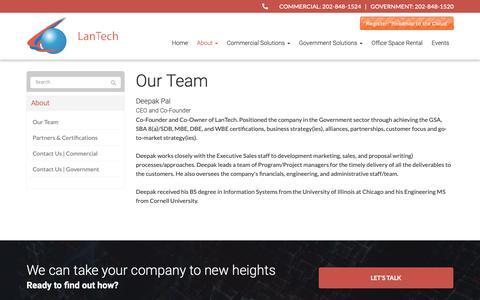 Screenshot of Team Page lantechinc.net - Our Team - Ashburn, Sterling, Lansdowne | LanTech Inc - captured Sept. 26, 2018