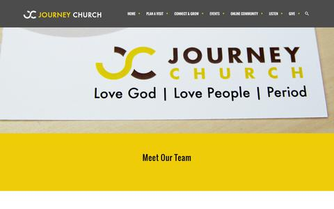 Screenshot of Team Page journeychattanooga.com - Journey Church | leadership - Journey Church - captured Aug. 5, 2015