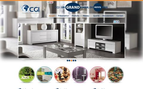 Screenshot of Home Page cgi-dz.com - CGI - Comptoir General Import - Accueil - captured June 3, 2016