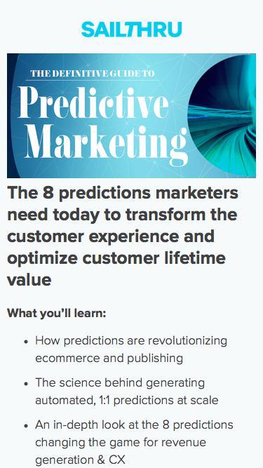 The Definitive Guide to Predictive Marketing | Sailthru