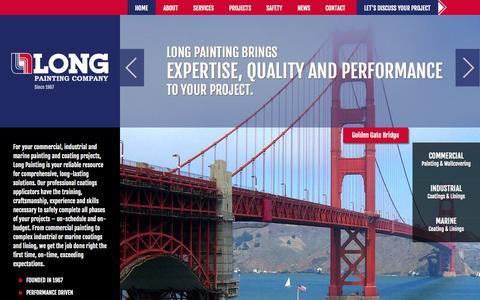 Screenshot of Home Page longpainting.com - Long Painting  Long Painting & Coating contractors for Commercial Industrial | WA, OR - captured Oct. 3, 2014