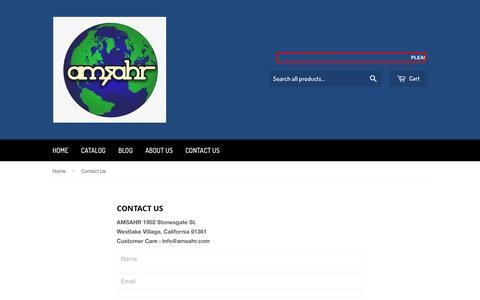 Screenshot of Contact Page amsahr.com - Contact Us – Amsahr - captured Nov. 20, 2016
