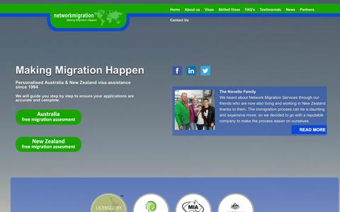 Screenshot of Home Page networkmigration.co.za - network migration - network migration - captured Oct. 7, 2014
