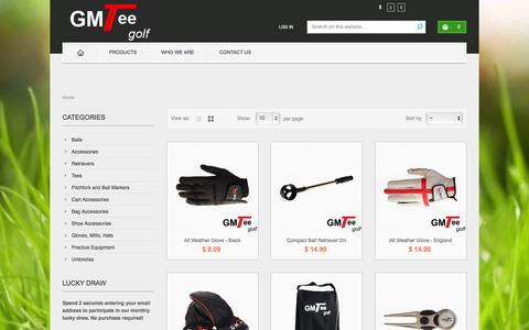 Screenshot of Products Page gmteegolf.com - Golf Products online Outlet | Golf Balls, Golf Bags, Golf Wrench,Golf Wooden Tees At GMTee Golf - GMTee Golf - captured Oct. 1, 2014