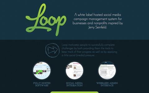 Screenshot of Home Page loophq.com - Loop — Social media campaign management system - captured Jan. 28, 2015