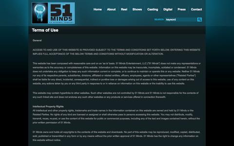 Screenshot of Terms Page 51minds.com - 51 Minds Terms of Use » 51 Minds - captured Oct. 9, 2014
