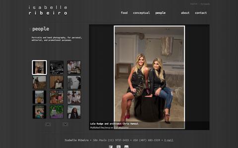 Screenshot of Team Page isabelle-ribeiro.com - Portraits   Isabelle Ribeiro - captured Oct. 27, 2014