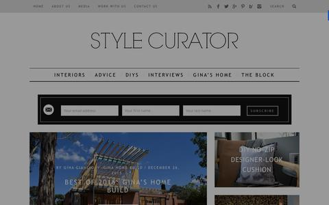 Screenshot of Home Page stylecurator.com.au - STYLE CURATOR - latest home decorating, design, DIYs, home tours and interviews with people in the industry - captured Jan. 15, 2016