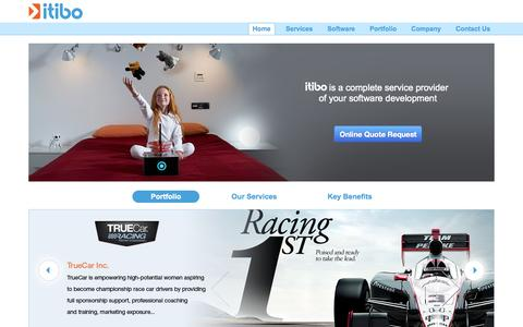 Screenshot of Home Page itibo.com - Custom Mobile App Development Company for Android, iPhone,iPad - captured Sept. 30, 2014