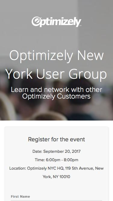 Optimizely New York User Group