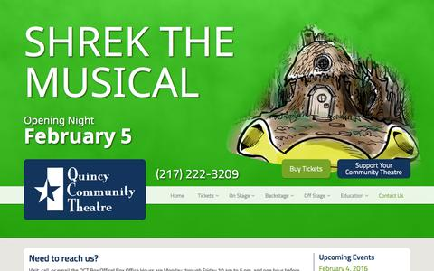 Screenshot of Contact Page 1qct.org - Contact Us | Quincy Community Theatre - captured Feb. 2, 2016