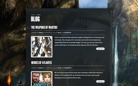 Screenshot of Blog outact.net - Blog   Outact Entertainment - captured Nov. 3, 2014