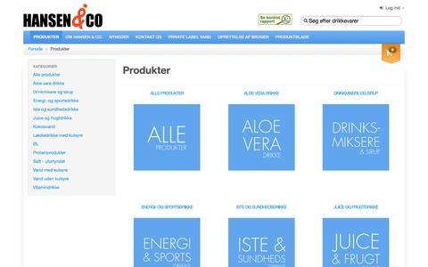 Screenshot of Products Page hansenco.dk - Produkter - Hansen & Co - captured July 11, 2016