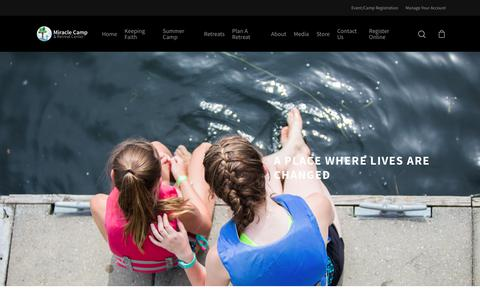 Screenshot of About Page miraclecamp.com - About Miracle Camp – Miracle Camp and Retreat Center - captured Oct. 7, 2019