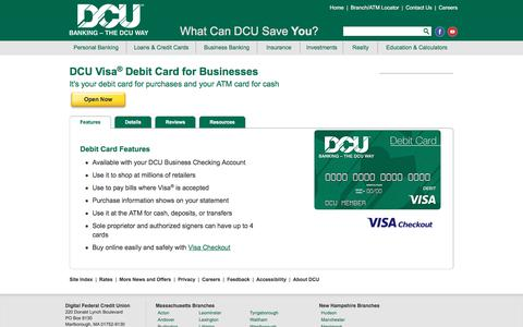 Business Debit Card | DCU | Massachusetts | New Hampshire