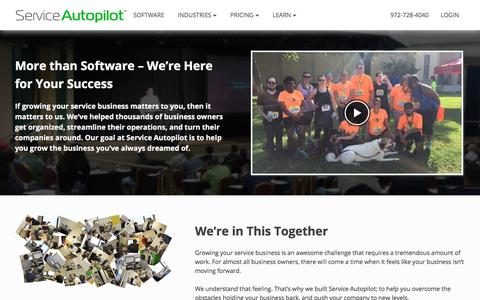 Screenshot of About Page serviceautopilot.com - Our Story | About Service Autopilot - captured March 17, 2018