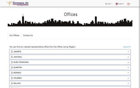 Screenshot of Contact Page sriwijayaair.co.id - Sriwijaya Air - captured Sept. 21, 2018
