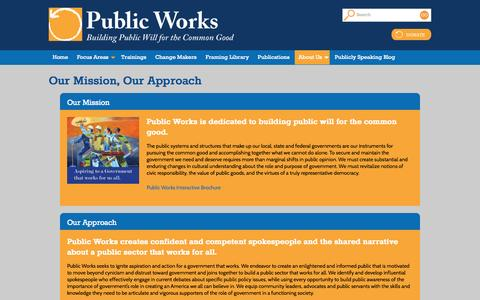 Screenshot of About Page publicworks.org - About Us | Public Works - captured Sept. 30, 2014