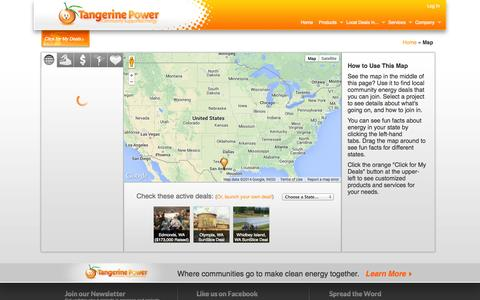 Screenshot of Maps & Directions Page tangerinepower.com - Local Deals | Tangerine Power - captured Oct. 10, 2014