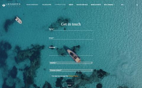 Screenshot of Contact Page lengersyachts.com - Contact Us - Lengers Yachts: Luxury Yacht dealer Europe - captured Nov. 4, 2018