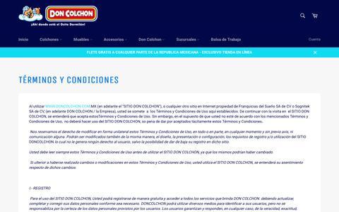 Términos y Condiciones – Don Colchon