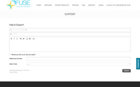 Screenshot of Support Page livesoftworks.com - FUSE - Support - Integrate your online marketplaces and messages, including eBay - Integrate your online marketplaces, dispatching, purchasing and messages, including eBay, Amazon, PrestaShop and more - captured Jan. 30, 2016