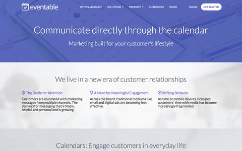 Screenshot of Case Studies Page eventable.com - Calendars as a Marketing Channel | Eventable - captured July 22, 2018