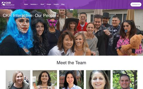 Screenshot of Team Page ckrinteractive.com - CKR Interactive - captured July 12, 2019