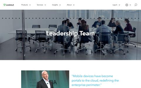 Screenshot of Team Page lookout.com - Leadership - captured Feb. 10, 2019